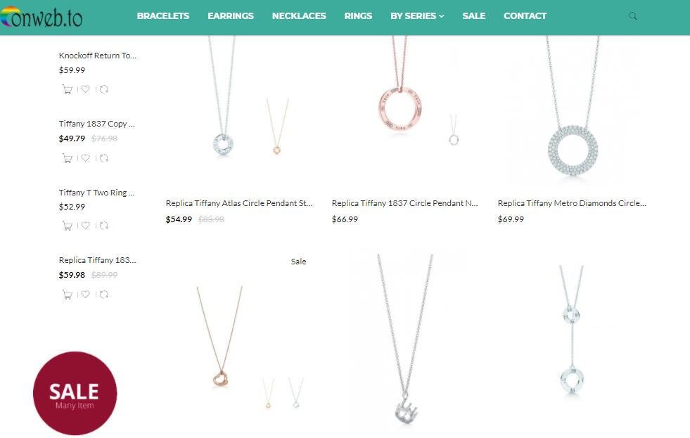 luxury replica Tiffany necklaces sale at ekx.su